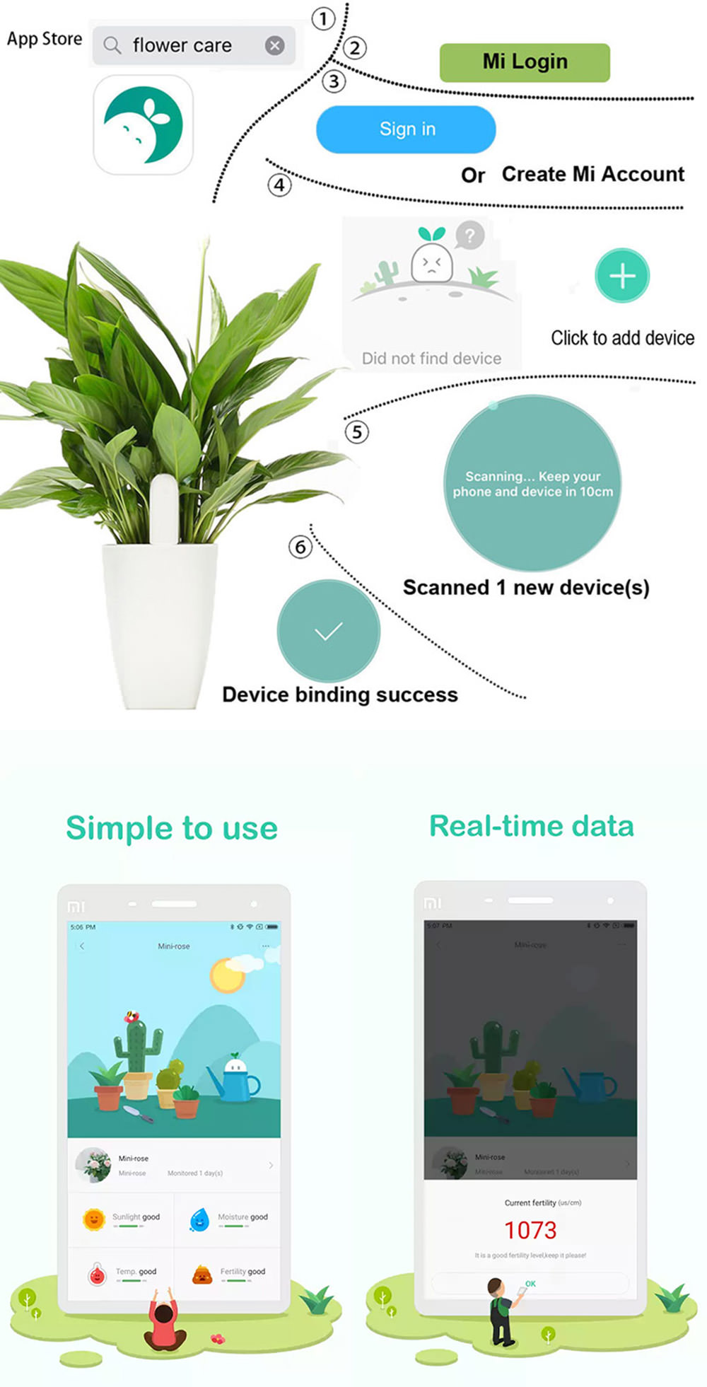 buy xiaomi flora plant soil monitor