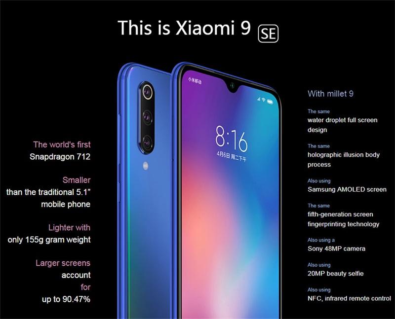 new xiaomi mi 9 se 6gb/64gb