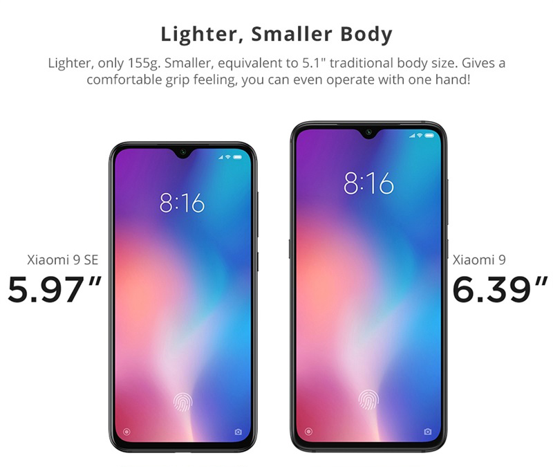 xiaomi mi 9 se 4g smartphone 6gb/64gb for sale