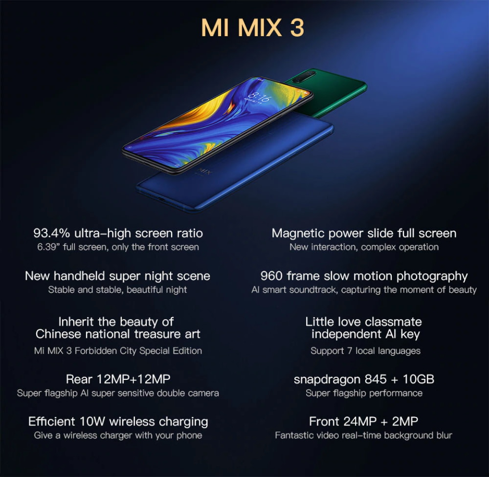 mi mix 3 global version