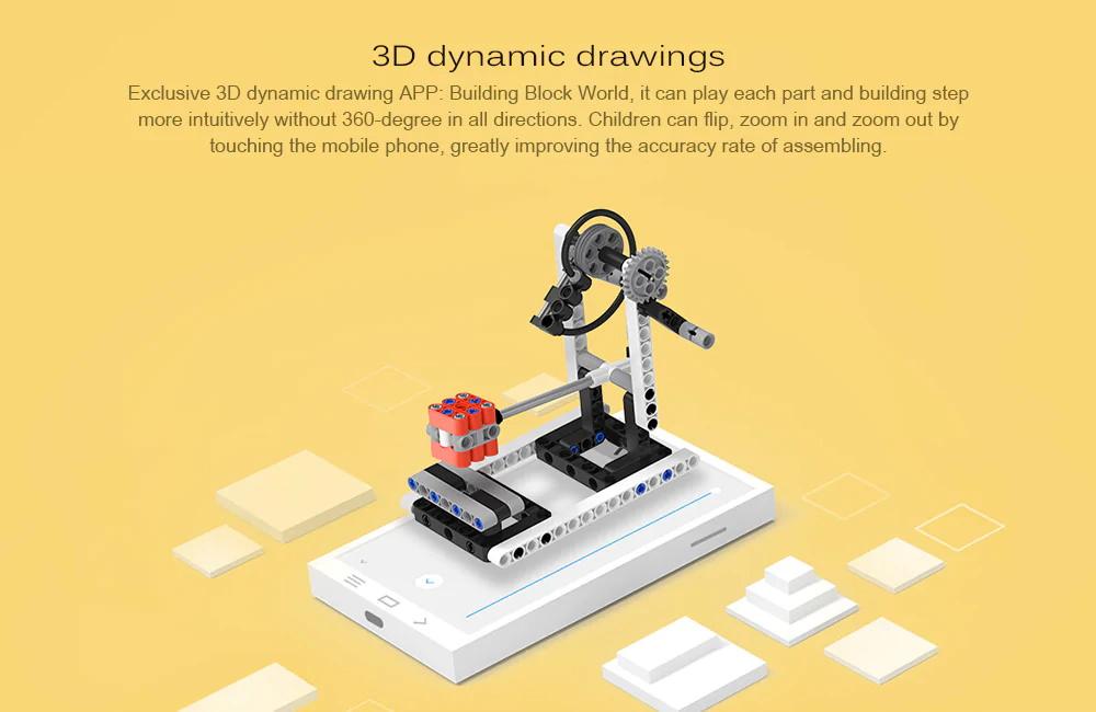 xiaomi mitu kids diy power machinery building blocks set