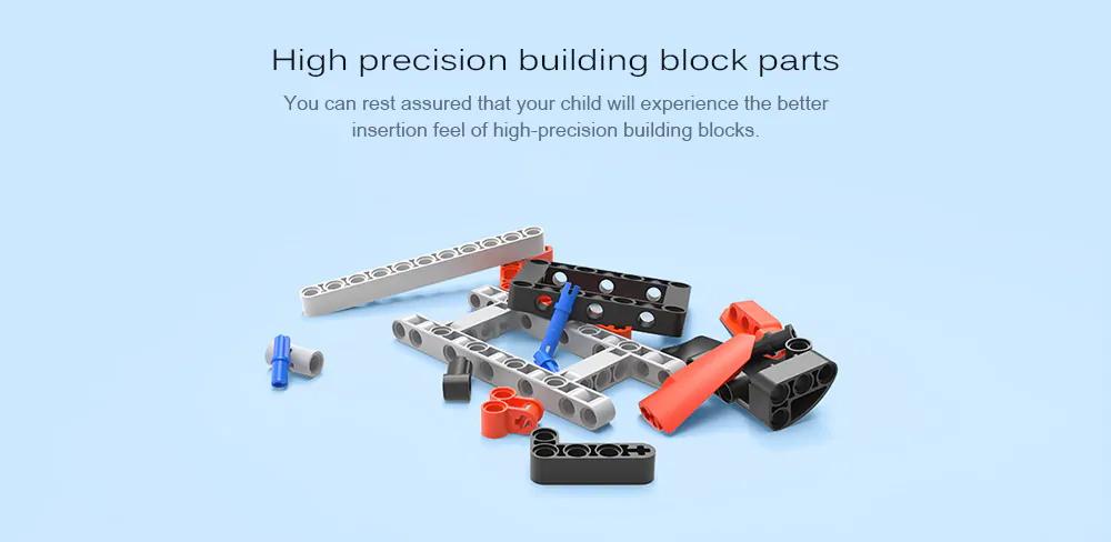 mitu kids diy assembled power machinery building blocks set