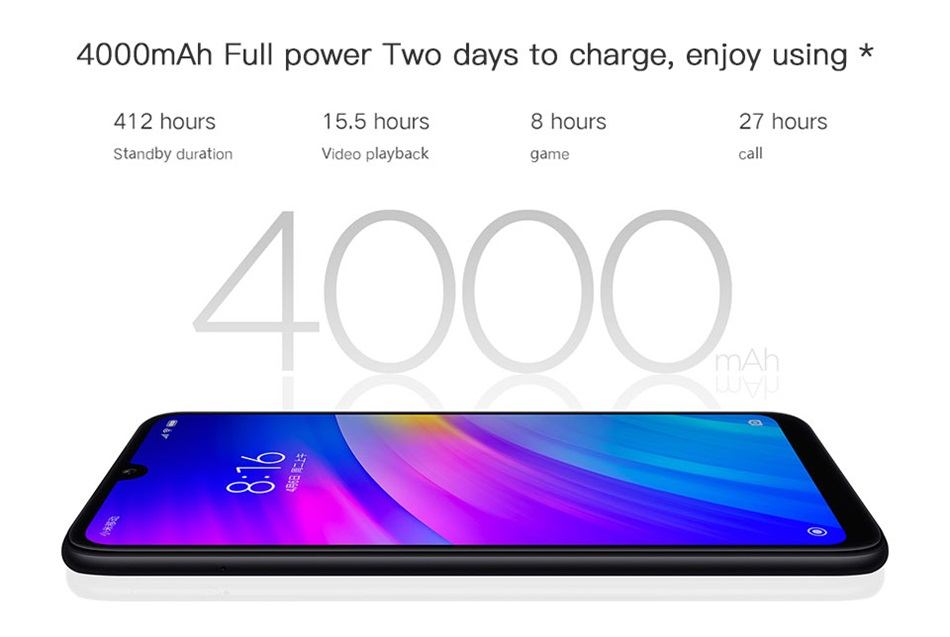 redmi 7 4g smartphone 2gb/16gb