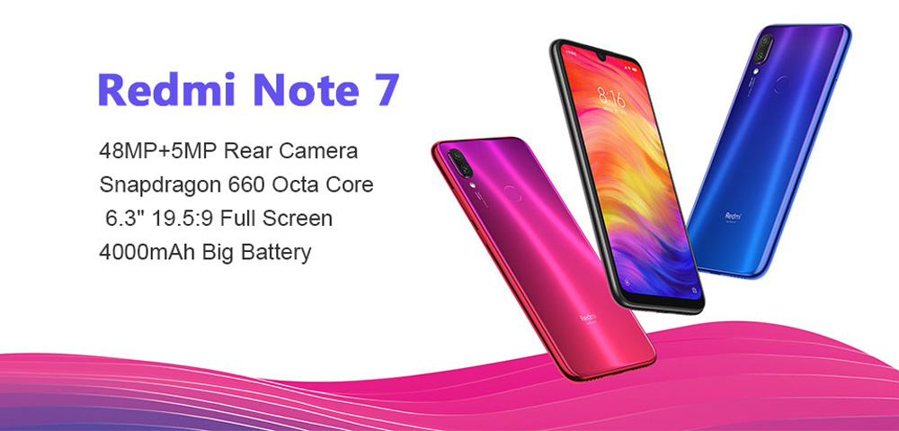 xiaomi redmi note 7 4g smartphone 4gb/128gb