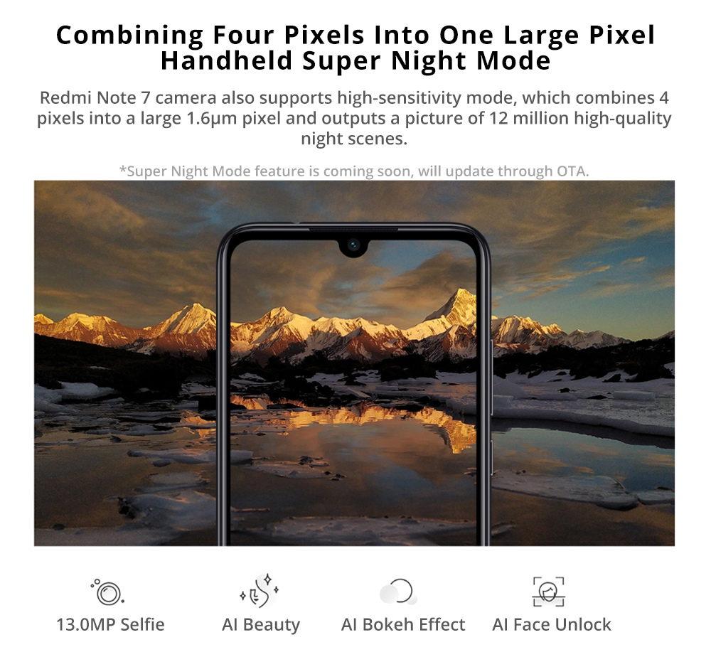2019 xiaomi redmi note 7 4g smartphone 4gb/128gb