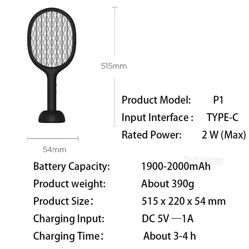 buy xiaomi mijia solove p1 electric mosquito swatter long use time 2019