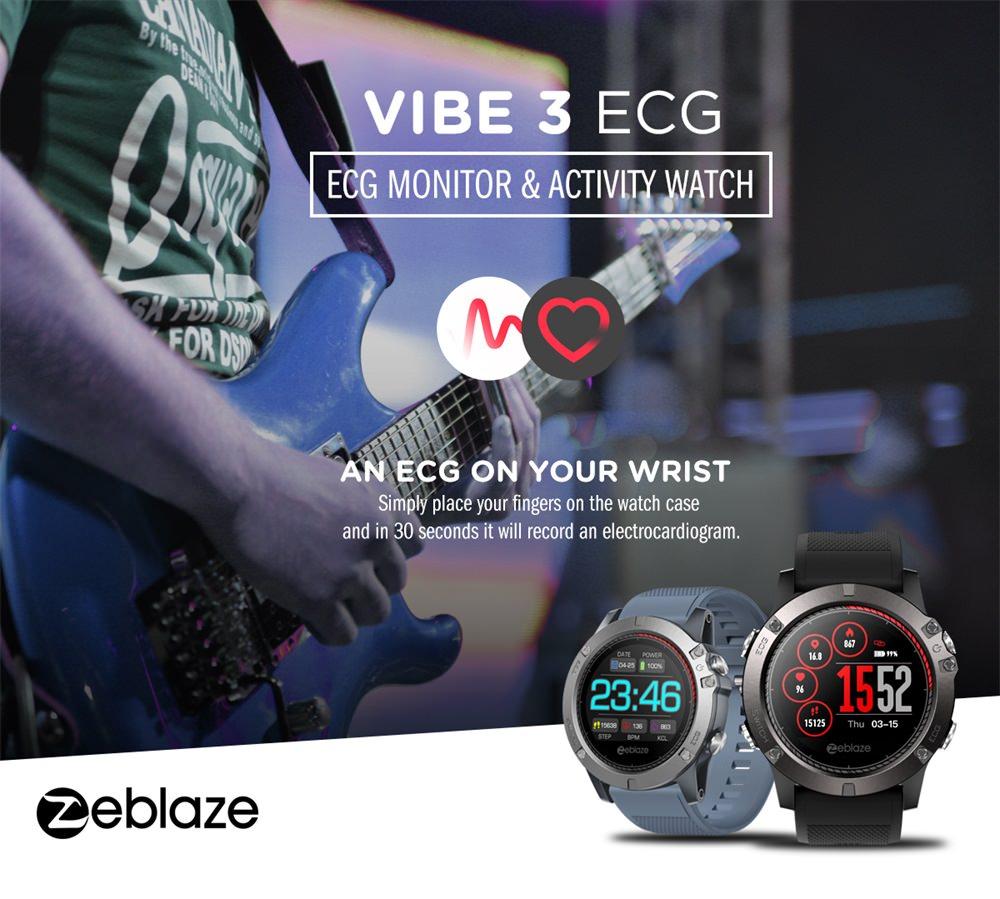 zeblaze vibe 3 ecg smartwatch