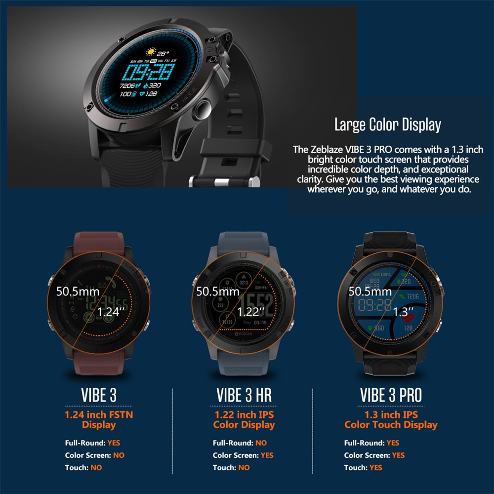 buy zeblaze vibe 3 pro bluetooth smartwatch