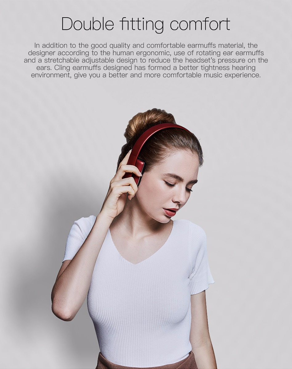 QCY QCY50 Wireless Bluetooth Headphones Stereo Sound with Microphone