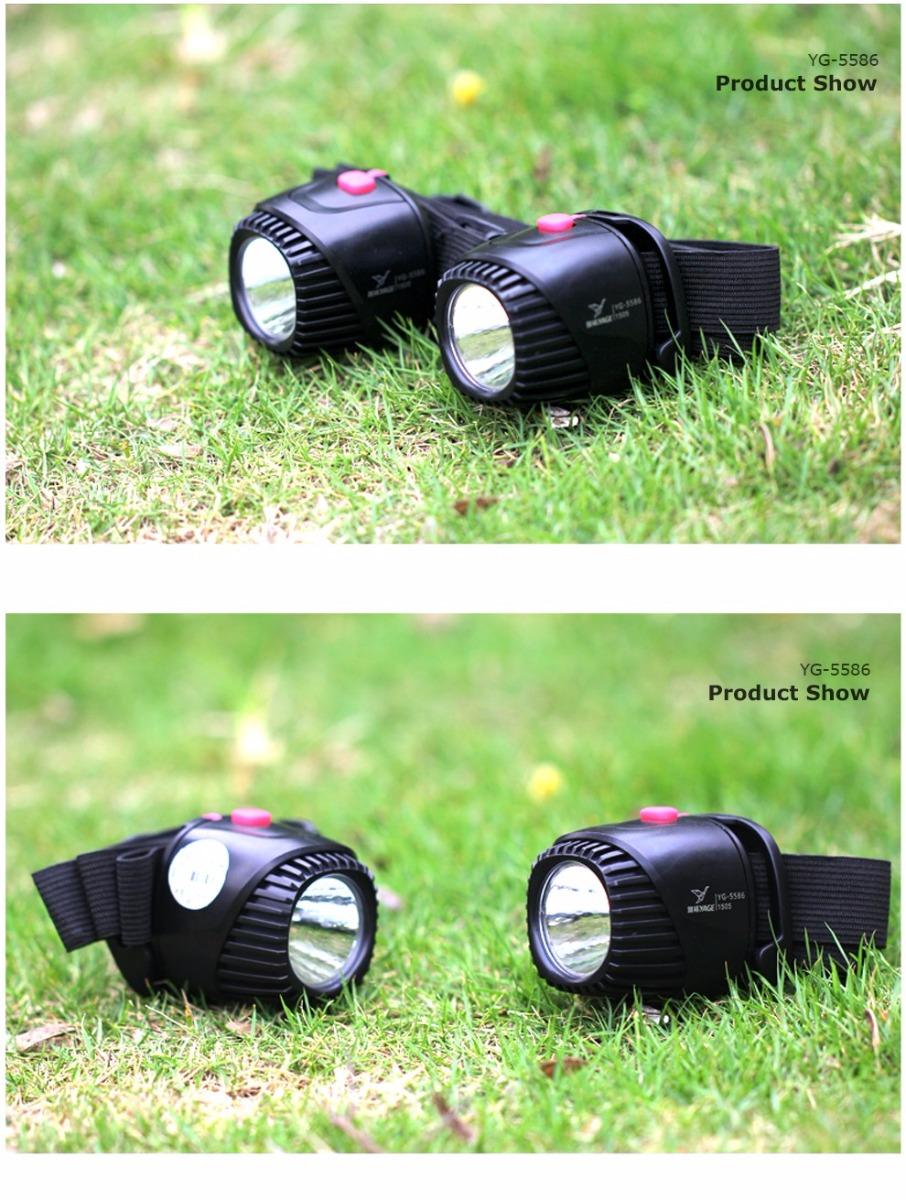 YAGE LED Battery Headlamp Mini Touch Lantern