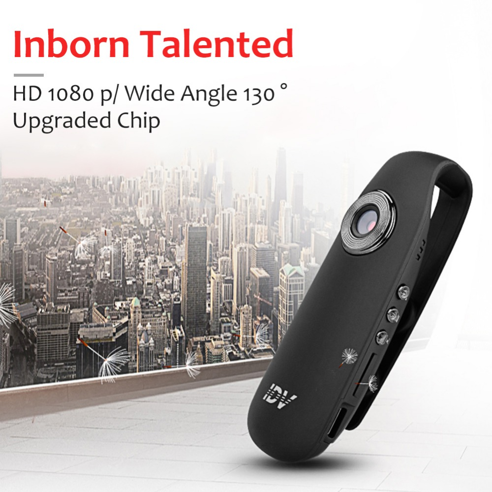 JZZH IDV007 Mini Intelligent Clip-On Camera HD Noise Reduction Recording Pen