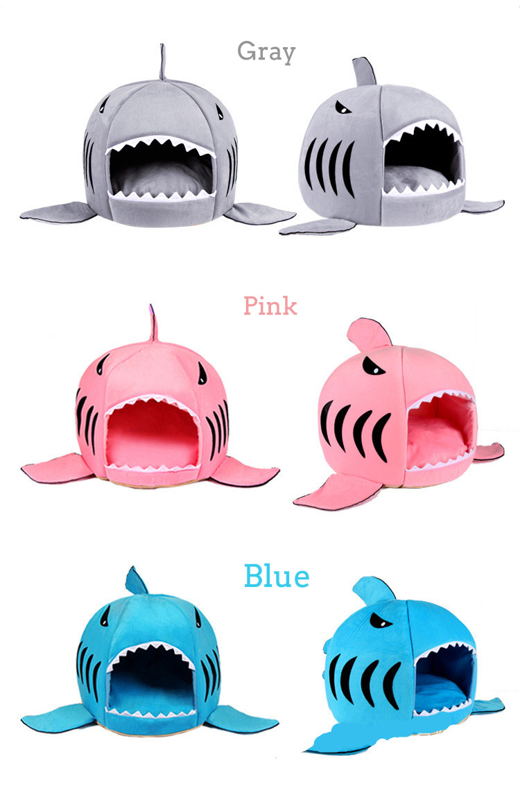 Pet Bed Warm Shark Shape Hand Wash Fiber Mat Sleeping Supplies
