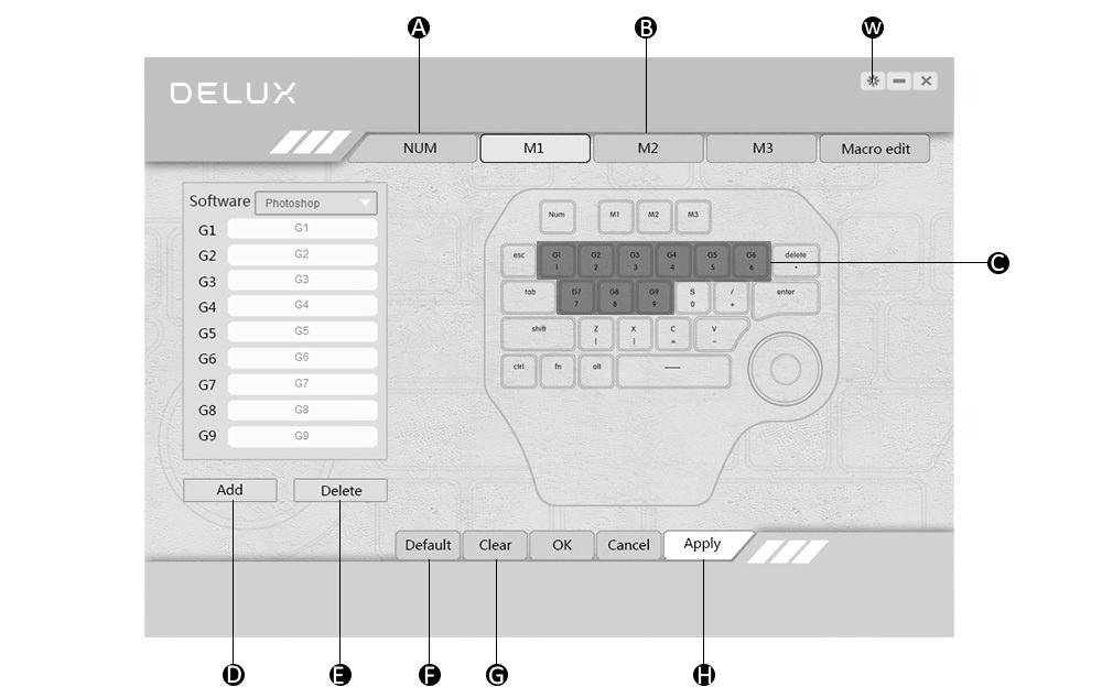 delux designer keyboard