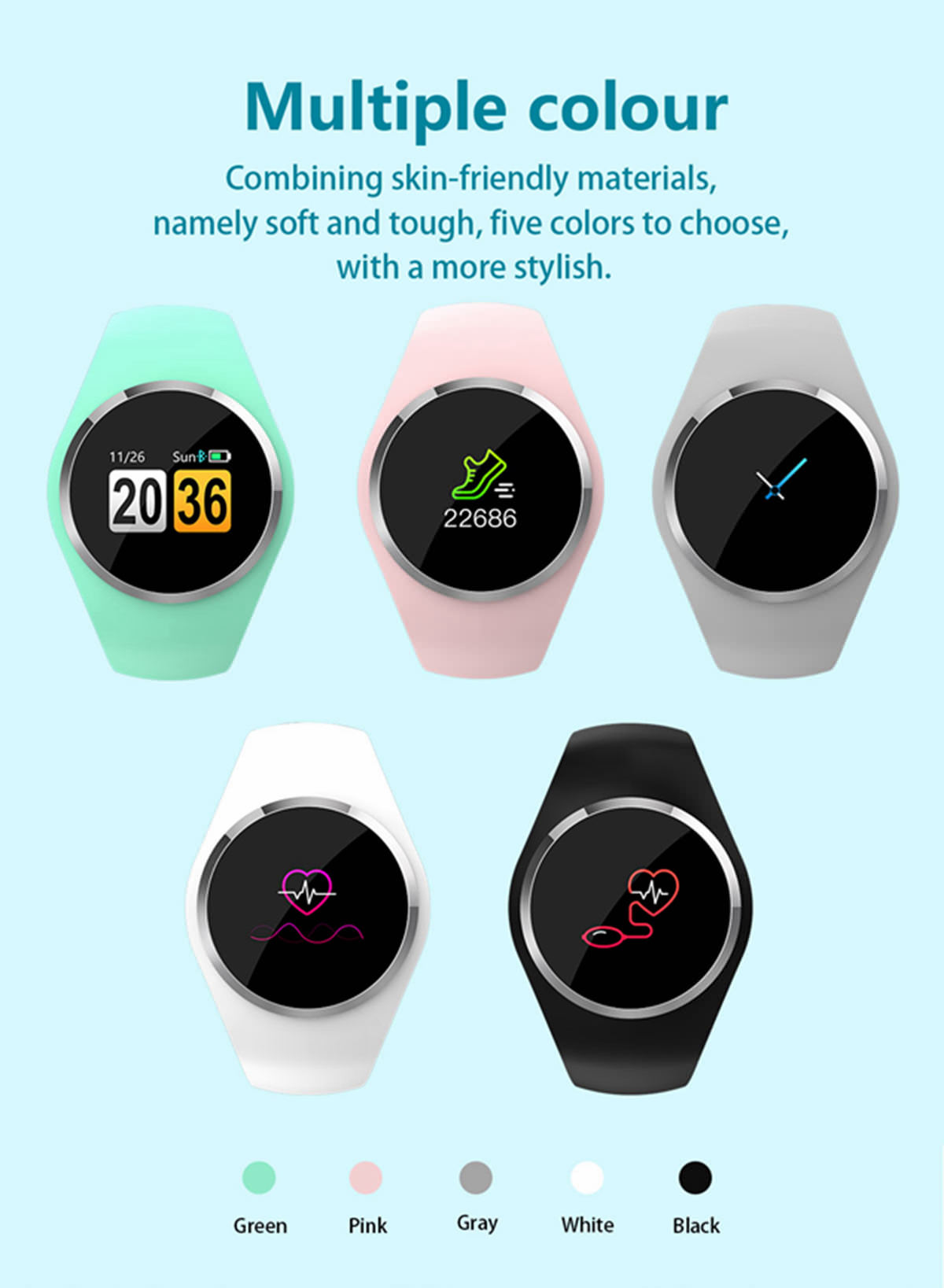 newwear q1 bluetooth 4.0 smartwatch