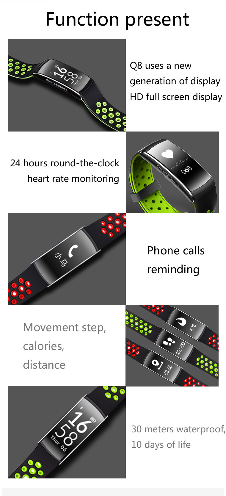 lemfo q8 smart wristband