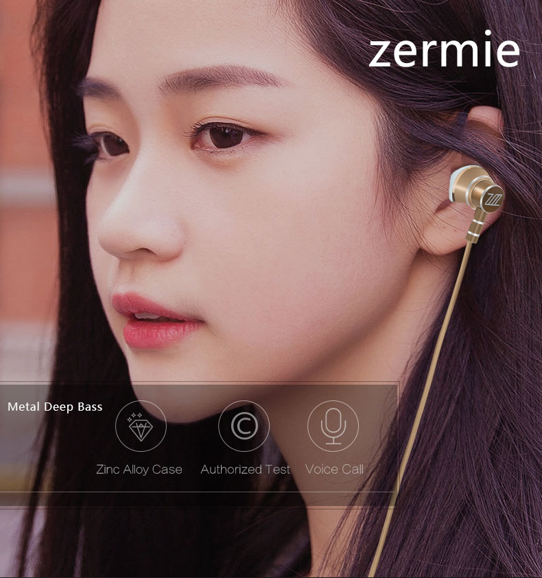 Zermie EMB-ZM-03 Deep Bass Stereo Metal Earphone