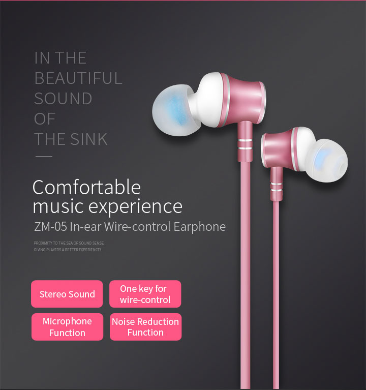 Zermie EMB-ZM-04 Deep Bass Stereo Metal Earphone