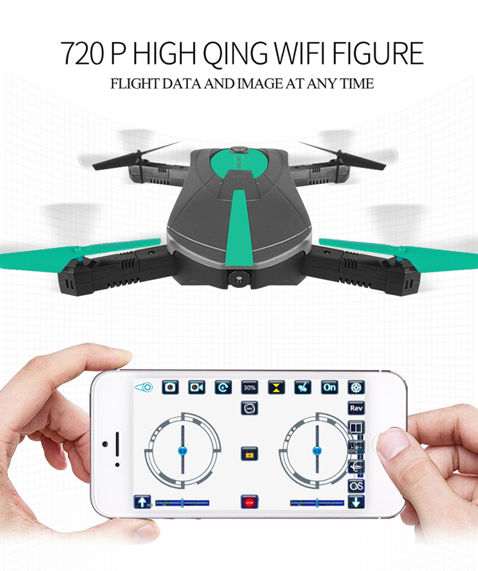 SJY JY018 WiFi RC Drone Mini Foldable Selfie Quadcopter with 2MP HD FPV Camera