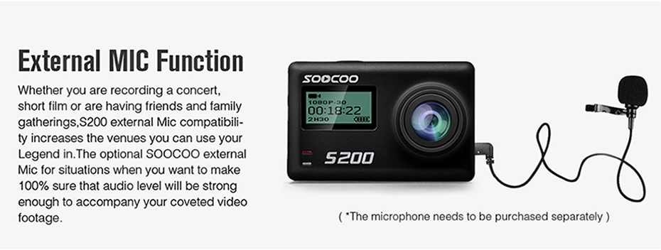 voice control action camera