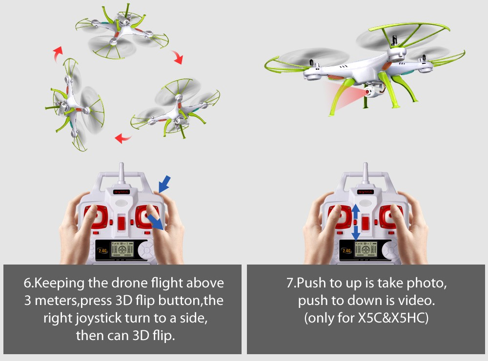 SYMA X5HW RC Drone Toy WiFi FPV HD in Real Time 2.4G 4CH Quadcopter