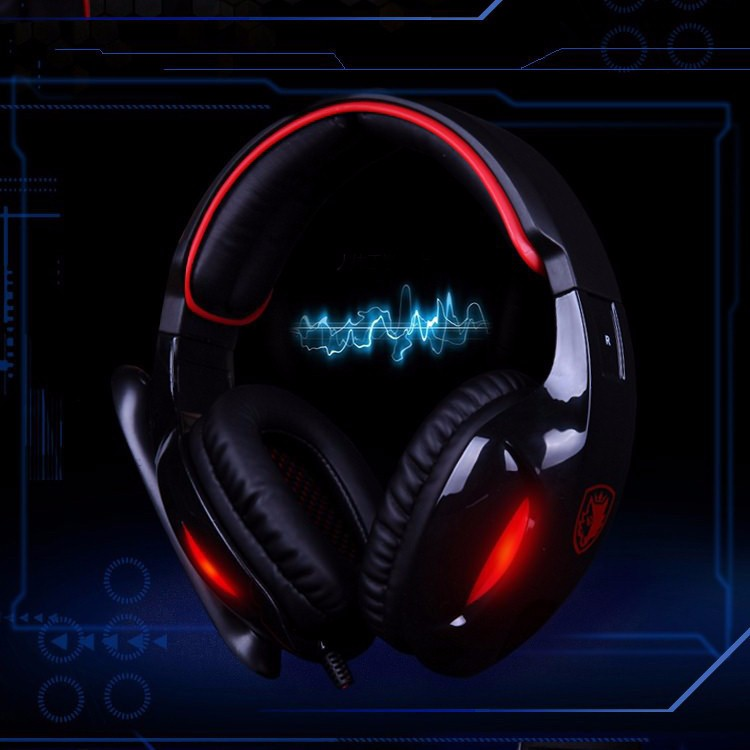 Sades SA-902 7.1 Surround Sound USB Gaming Headset with Mic and LED Light for ps4