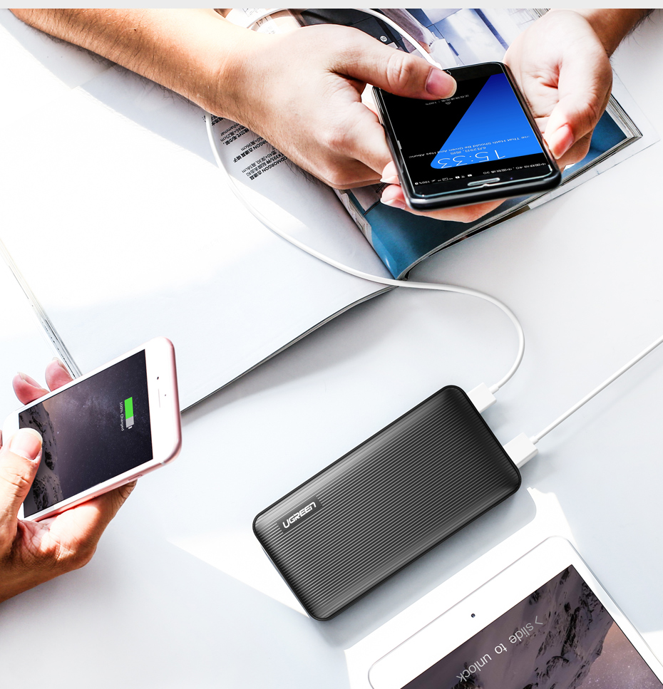 Ugreen ED106 Power Bank 10000mAh Mobile Phone Charger