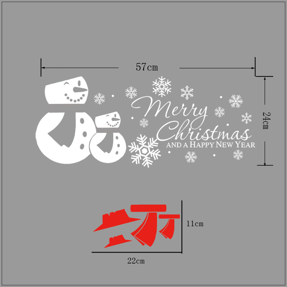 Snowman Christmas Wall Stickers Personalized Decorative Window Glass Stickers