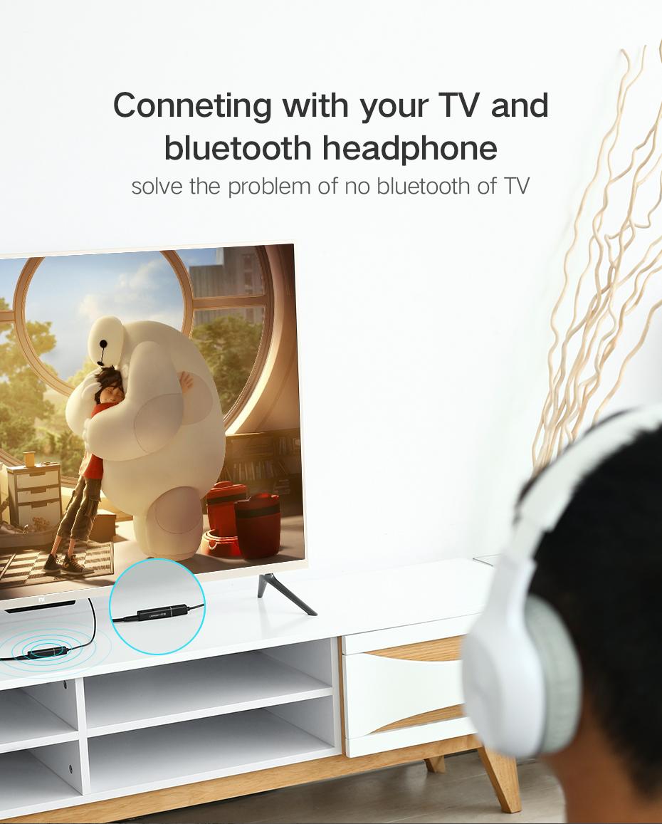 Ugreen CM107 Bluetooth 4.2 Transmitter 3.5 MM Audio Broadcast Support APTX Humidifier Mini Portable Mute USB Aroma Air Purifier