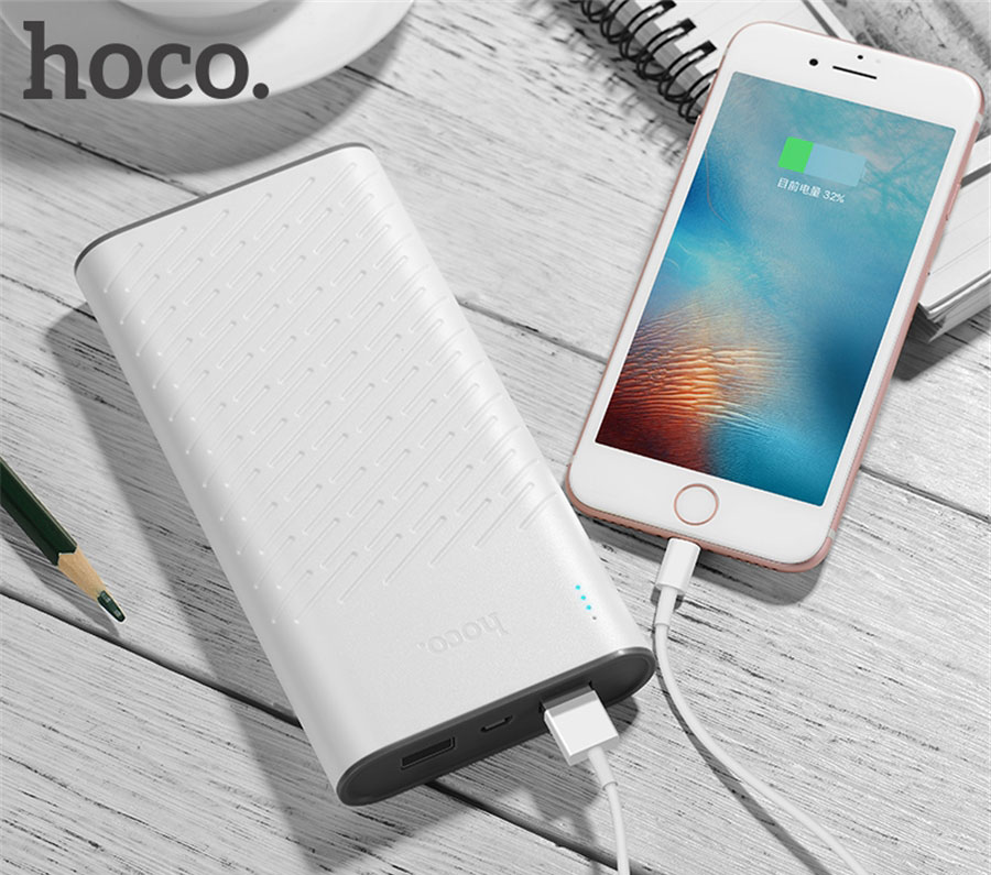 HOCO B31A 30000mAh Power Bank Dual USB Portable Charger with LED Indicator
