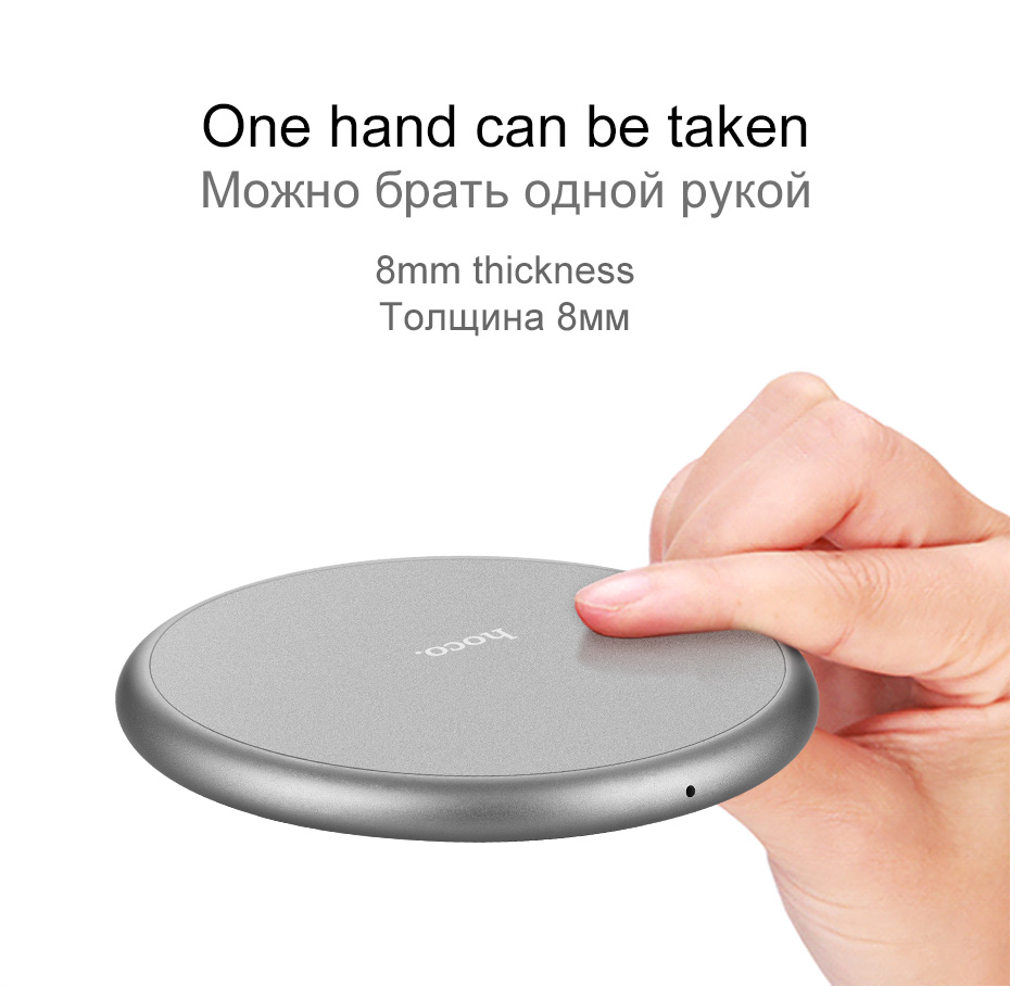 HOCO CW3A Portable QI Wireless Charger Quick Charging Pad
