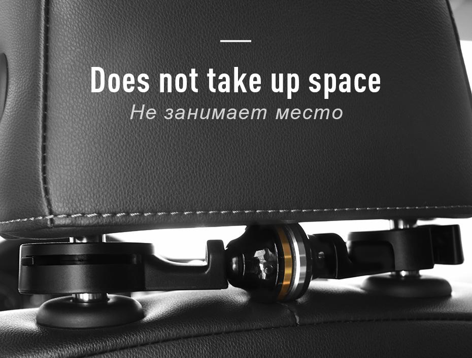 HOCO CA18 Car Headrest Universal Magnetic Mount Holder