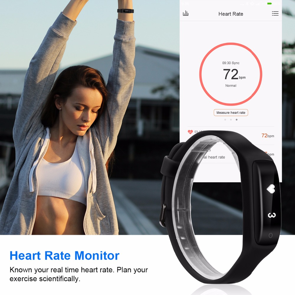 Lenovo HW01 Waterproof Smart Wristband Bluetooth Dynamic Heart Rate Monitor