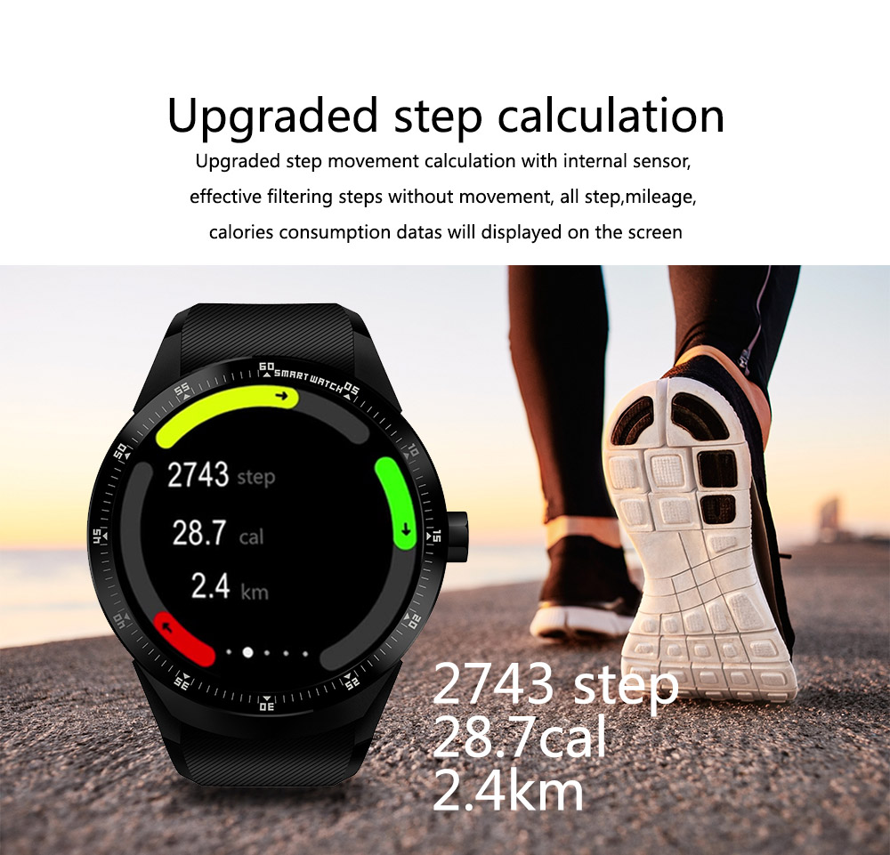 K98H 3G Smart Watch Phone Support GPS WiFi Heart Rate Monitor Wristwatch