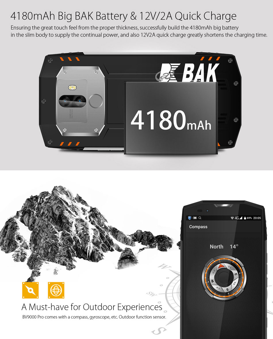 Blackview BV9000 Pro 5.7 Inch 4G Smartphone Full Screen Waterproof IP68 NFC Mobile Phone