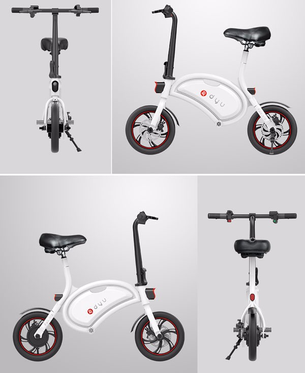F - wheel DYU D1 Smart Folding Electric Bike with 12 Inch Wheels