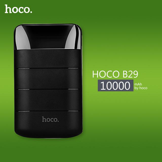 HOCO B29 10000mAh Portable Power Bank with Dual USB and LCD Digital Display