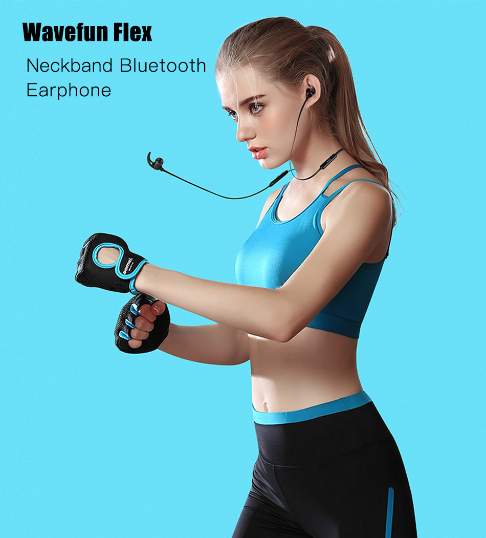 Wavefun Flex Wireless Bluetooth Earbud Sports Magnetic Stereo Headset