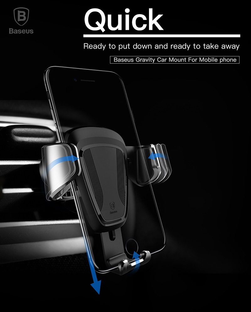 Baseus Gravity Car Air Vent Holder 360 Degree Rotation Phone Stand