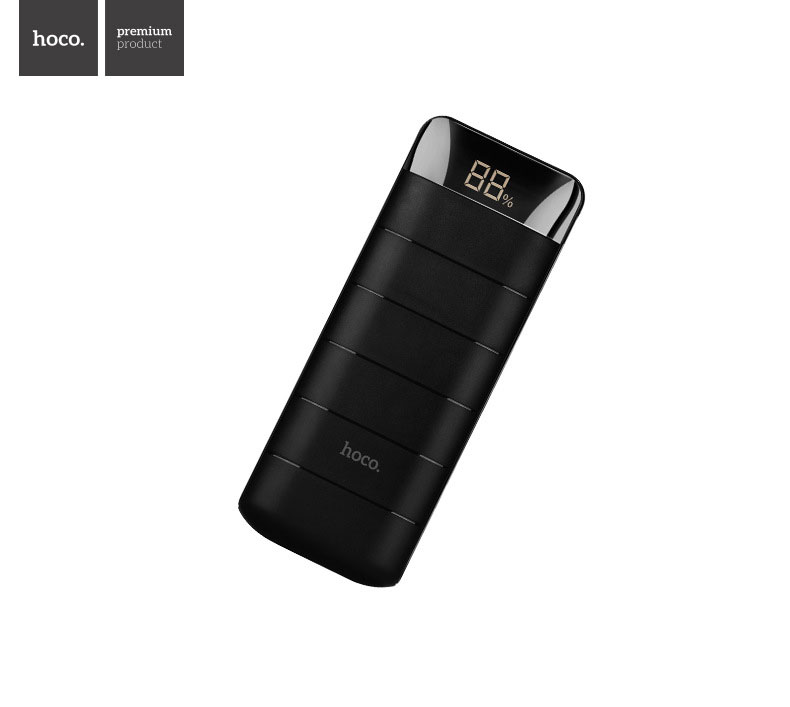 HOCO B29A 15000mAh Portable Power Bank with Dual USB and LED Digital Display