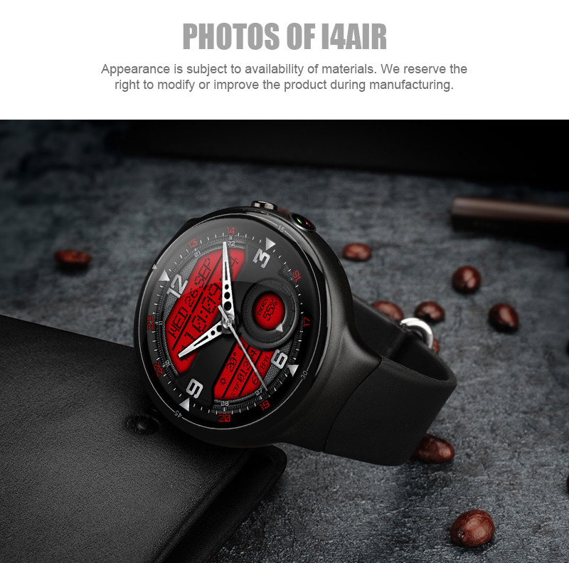 I4 AIR 3G Smart Watch Phone GPS Heart Rate Monitor TPU Strap Smartwatch