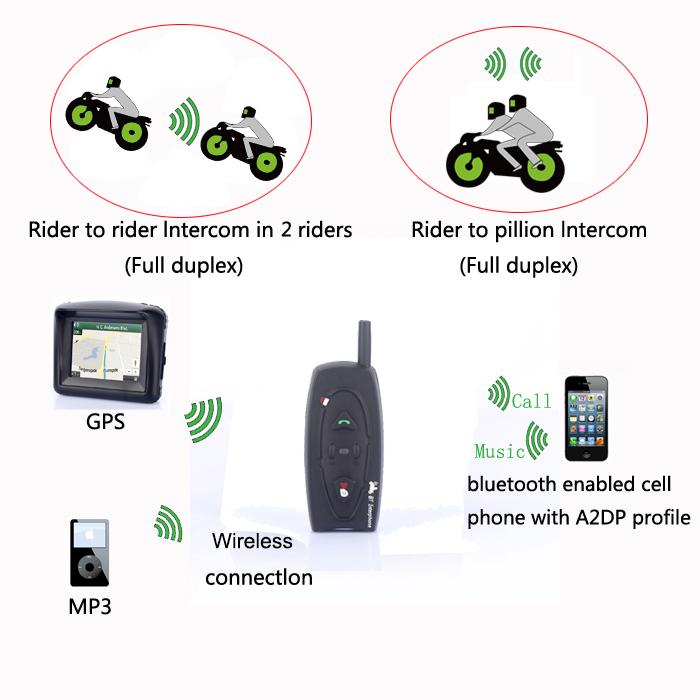 Vnetphone V2 Motorcycle Helmet Headset Waterproof Bluetooth Interphone