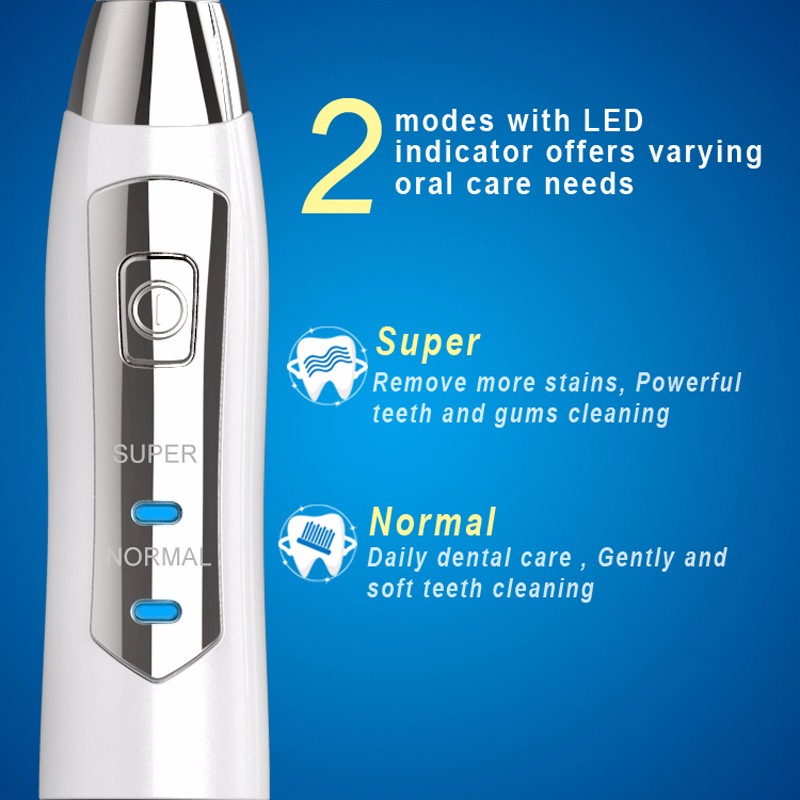 SEAGO E1 Electric Sonic Toothbrush Battery Operated 2 Brushing Modes
