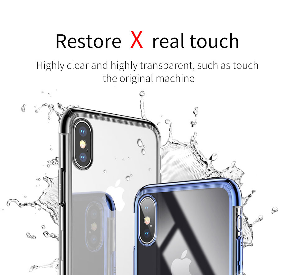Baseus Ultra Thin PC Hard Plastic Phone Case for iPhone X