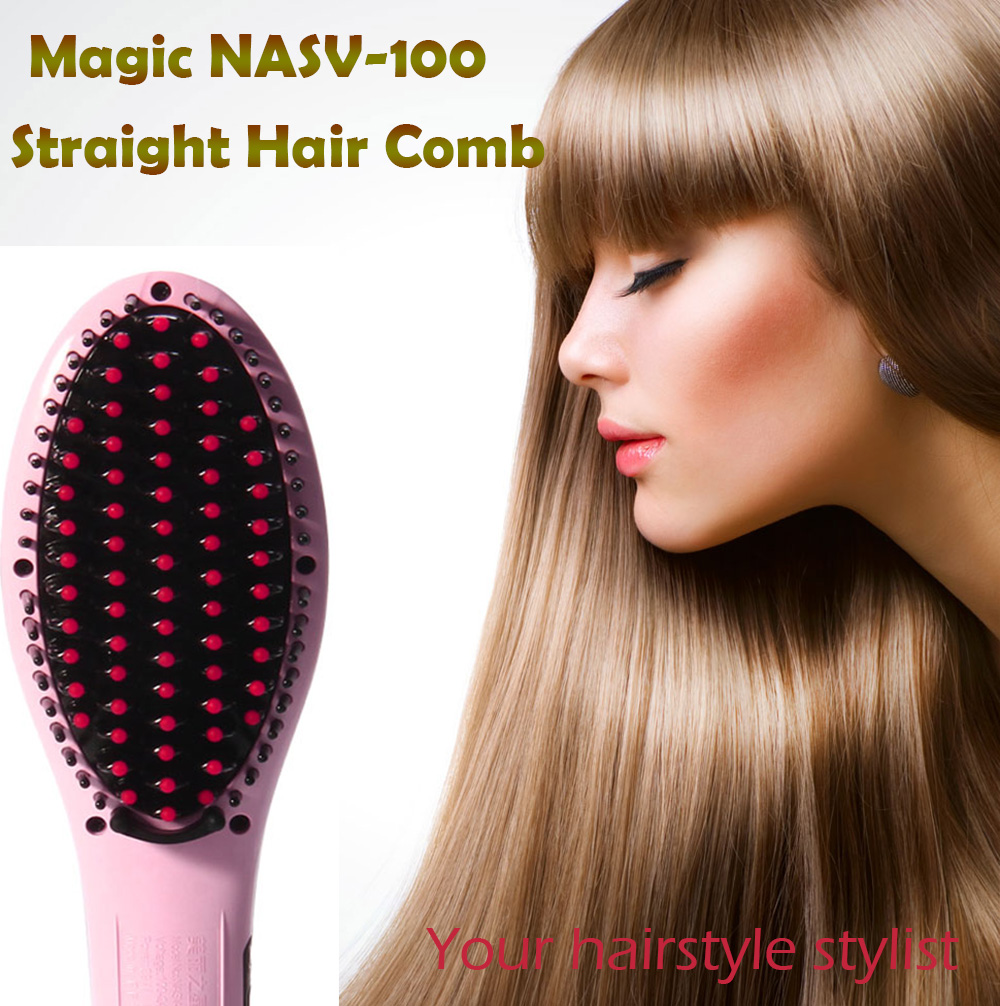 NASV NASV-100 Straight Hair Comb Brush with LCD Display