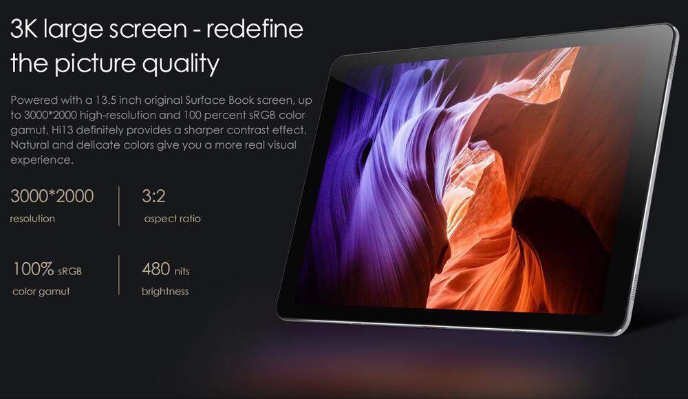 CHUWI Hi13 13.5 Inch Tablet PC Dual WiFi Dual Cameras