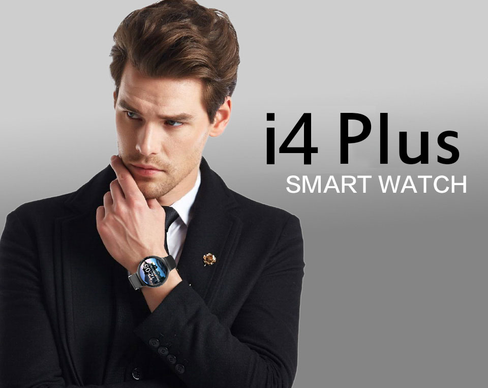 I4 Plus 3G Bluetooth Smart Watch Phone GPS Heart Rate Monitor Smartwatch
