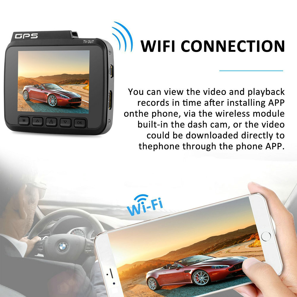 Azdome GS63H 4K WiFi Car DVR Built-in GPS Night Vision Dash Cam