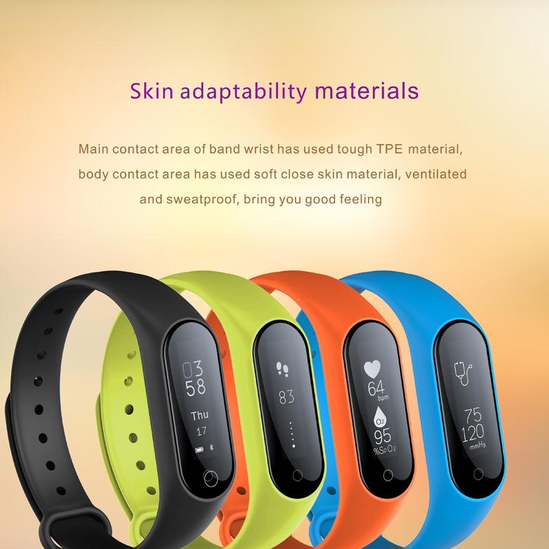 Y2 Plus Bluetooth Smart Bracelet Waterproof Blood Pressure Heart Rate Monitor