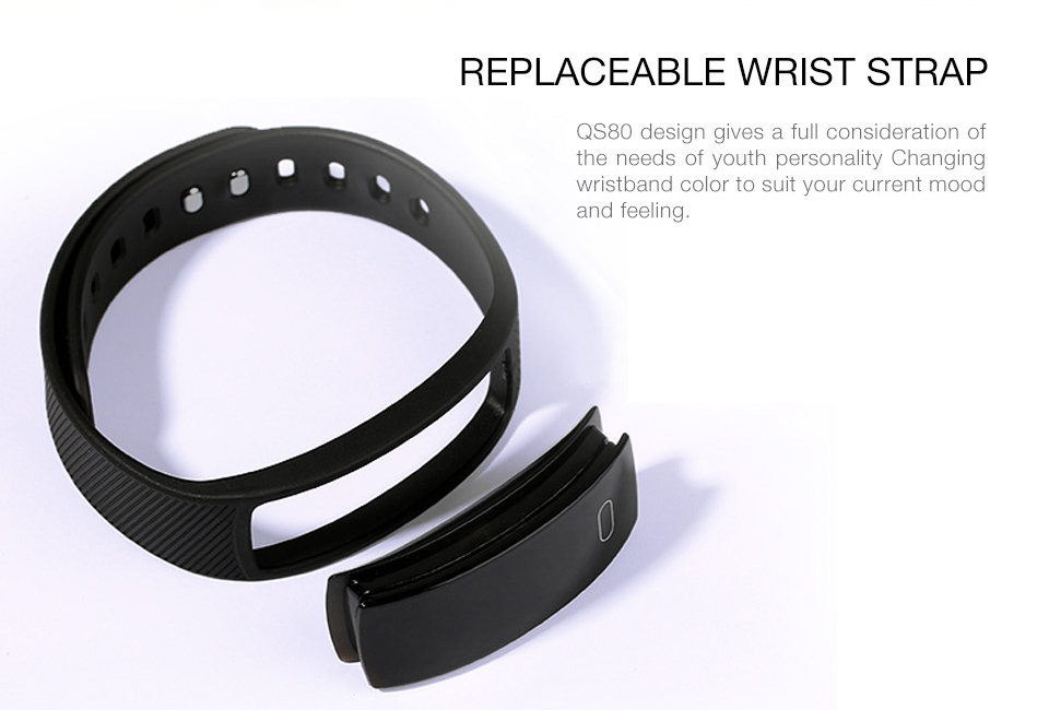 QS80 Waterproof Smart Wristband Blood Pressure Heart Rate Monitor