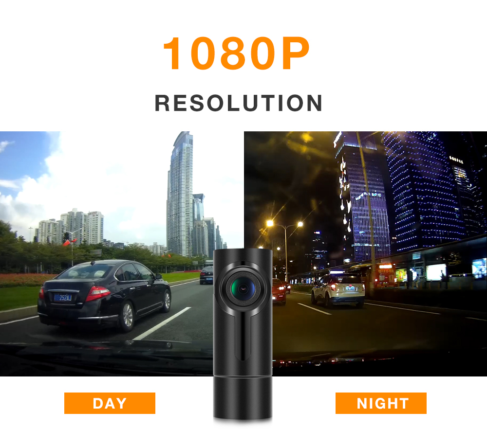 G6-2S Smart Car DVR 1080P 170° Wide Angle WiFi Dash Camera Support Wireless Snapshot